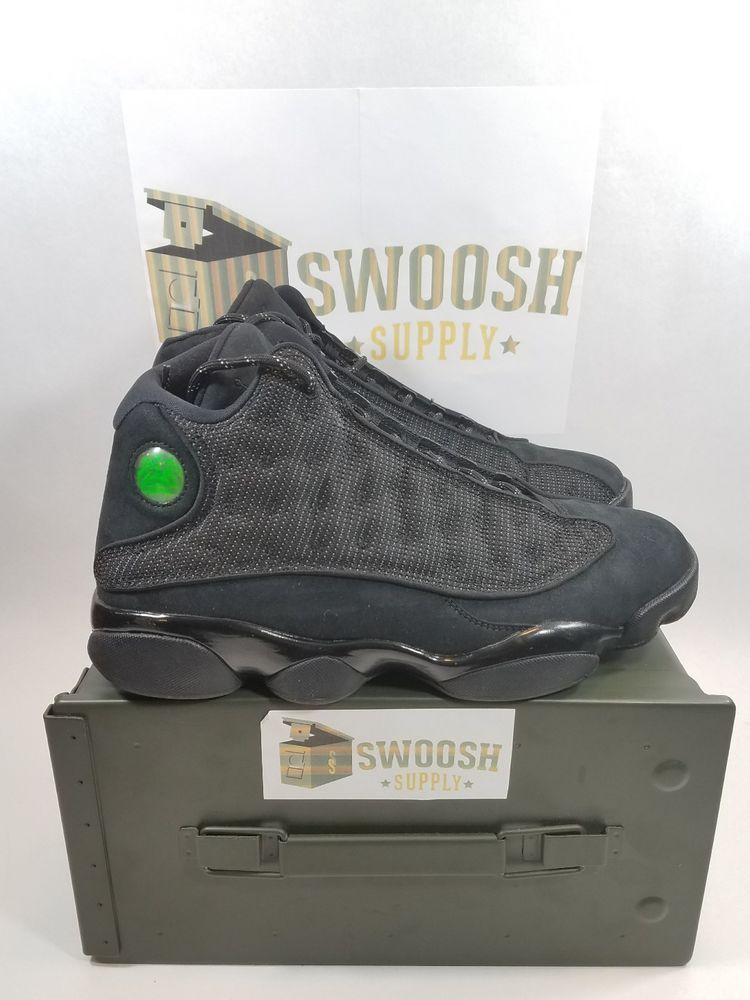 39db5f4c6a7cbe Nike Air Jordan 13 XIII Retro Black Cat Anthracite 414571-011 Size 9  Nike   BasketballShoes