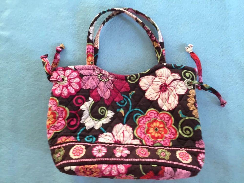 Vera bradley handbag retired pattern mod floral pink 7x9 pink brown vera bradley handbag retired pattern mid floral pink 7x9 pink brown aqua bright ebay mightylinksfo