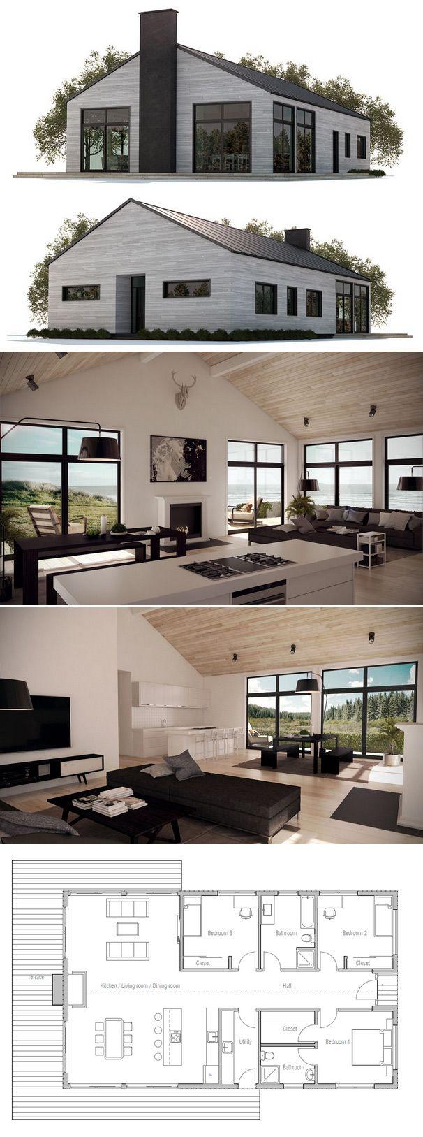 Plan De Maison Http://www.m Habitat.fr/travaux De Gros Oeuvre/architecte Et  Constructeur/le Plan De Construction D Une Maison 2483_A | Pinterest ...
