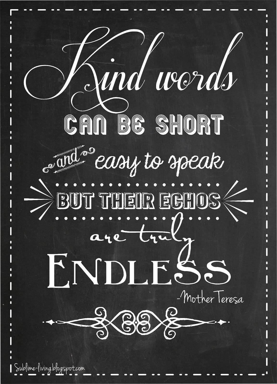 Sublime Living With Images Kindness Quotes Mother Teresa