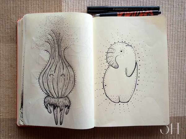The Line Art Challenge Sketches For Days : Day challenge sketching by sarah healy via behance days