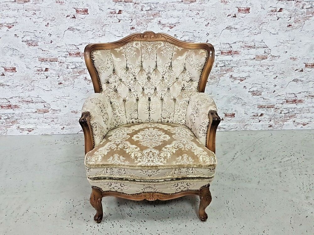 Chippendale Barock Sessel Lounge Chair Landhaus Shabby