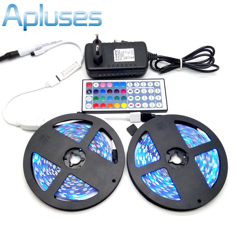10 Mt Led Streifen Set Smd 5050 Rgb 600led Flexible Band Dekoration Beleuchtung 44key Ir Controller 12 V 3a Netzteil Adapter Led Lights Led Led Strip