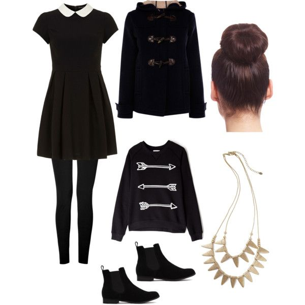 Winter Outfits Black Dress