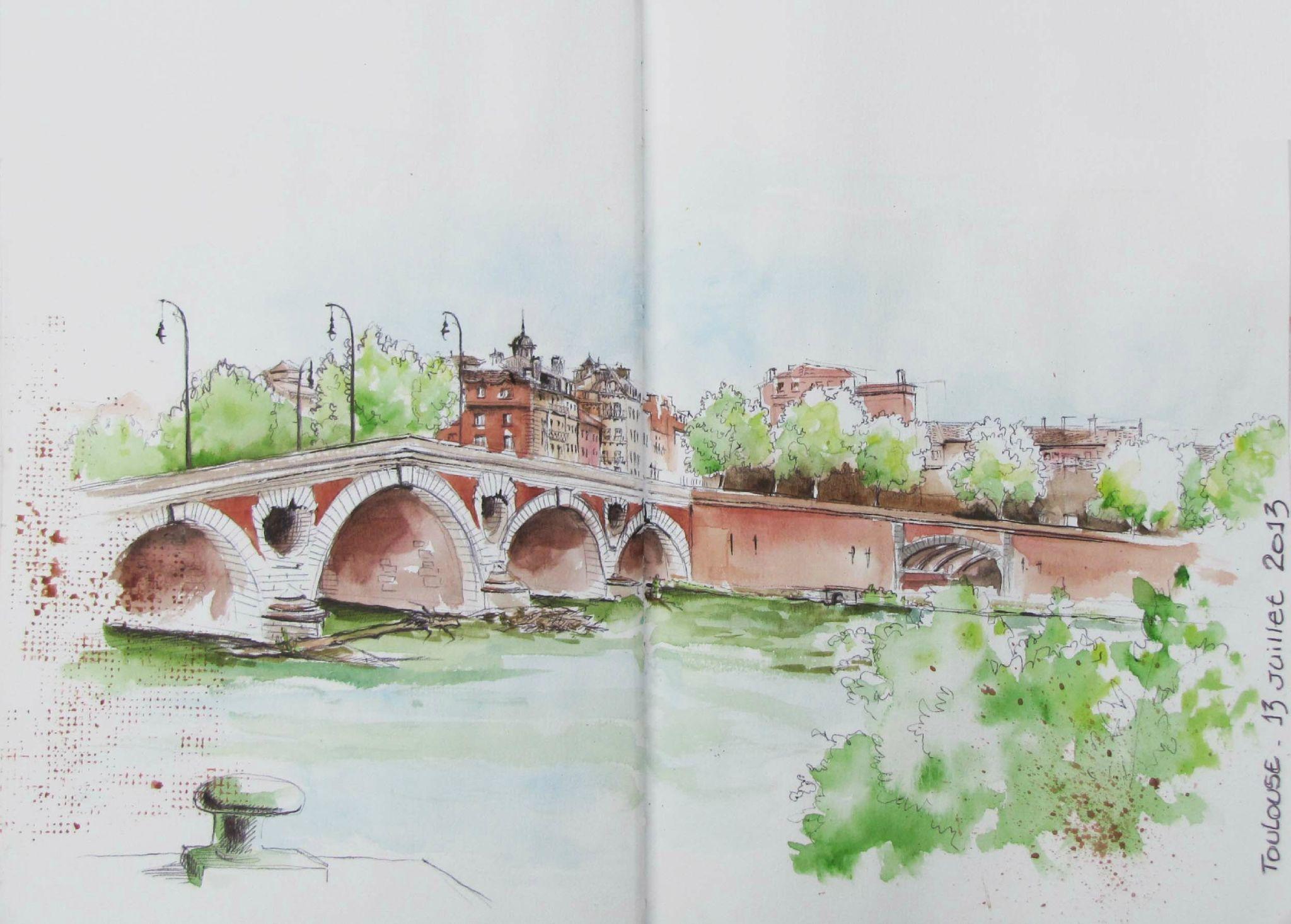 Toulouse Le Pont Neuf Vu De La Prairie Des Filtres Avec Images