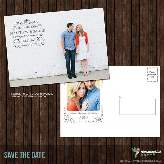 postcards save the date template