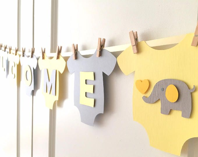 Baby Shower Elefante Amarillo ~ Girl baby shower party ideas yellow and gray baby shower girl
