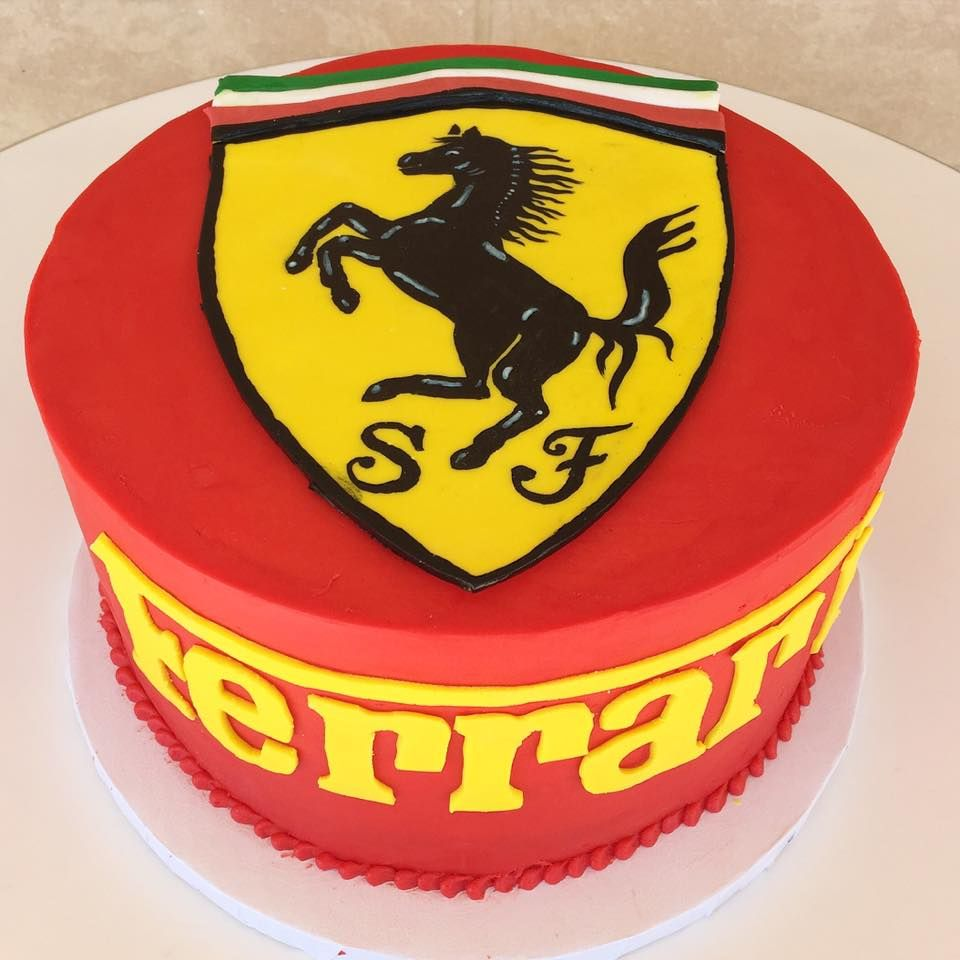 Fun Ferrari Cake Perfect For A Or Car Themed Birthday Party