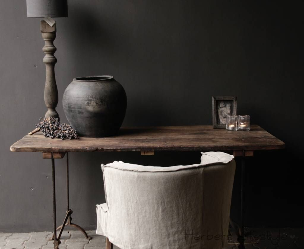 Oude houten tafel landelijk interieur house home