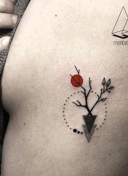 Small Abstract Tattoo Rib Placement Tattoo Designs And Ideas Elegant Tattoos Bohemian Tattoo Geometric Tattoo