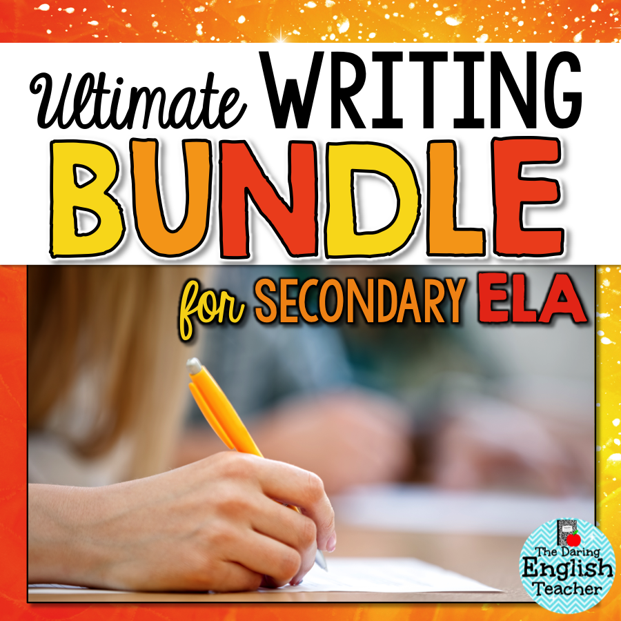 This is the ultimate writing bundle for secondary ELA. This unit includes comprehensive writing instruction, activities, essays, and more for all the major writing strands: narrative, argument, expository, and research!