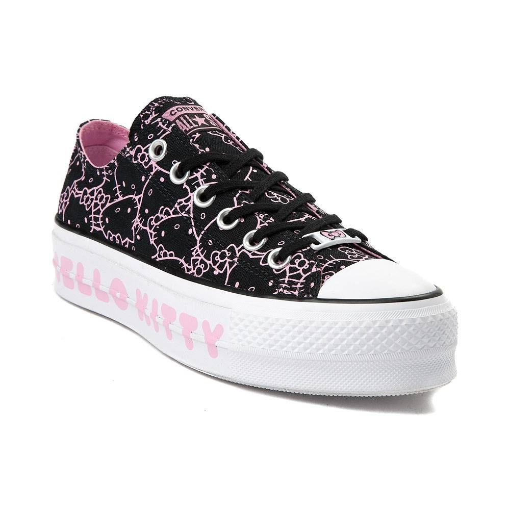212107fad5ad Womens Converse Chuck Taylor All Star Lo Hello Kitty® Platform Sneaker -  Black Pink - 399618