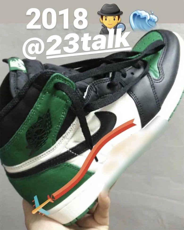 b26f38fefcfe61 First Look At The Air Jordan 1 Retro High OG Pine Green
