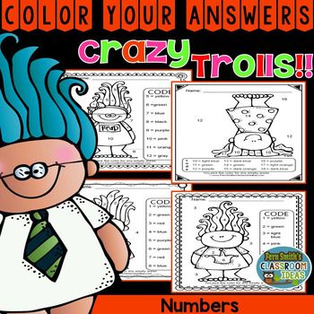4 Trolls Know your Numbers Worksheets for some Fun. This resource has print and go worksheets for Know Your Numbers Color Your Answers Printables for some Math fun in your classroom!Trolls - Color Your Answers Printables for some Math Fun in your classroom!