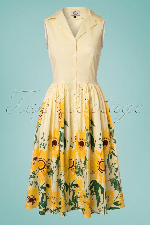 Sunflower Dress Banned Vintage Inspired Outfits Sunflower Shirt Sunflower Dress [ 1530 x 1020 Pixel ]