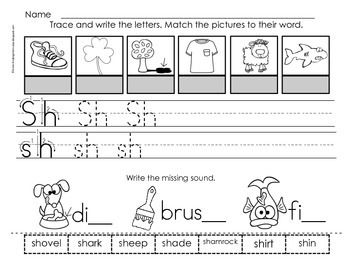 sh digraph worksheets cut and paste activities and pictures of. Black Bedroom Furniture Sets. Home Design Ideas