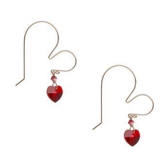 691dd7daf84d Aretes con Cristales Swarovski® En Aleacion con Oro de 18k Jands Joyeria  Artesanal-Rojo