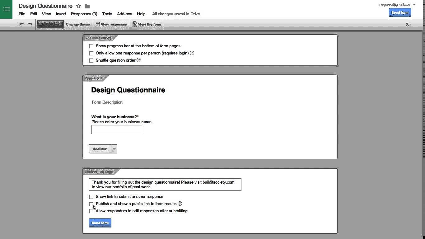 Set Up A Client Intake Form In 5 Minutes Using Google Forms