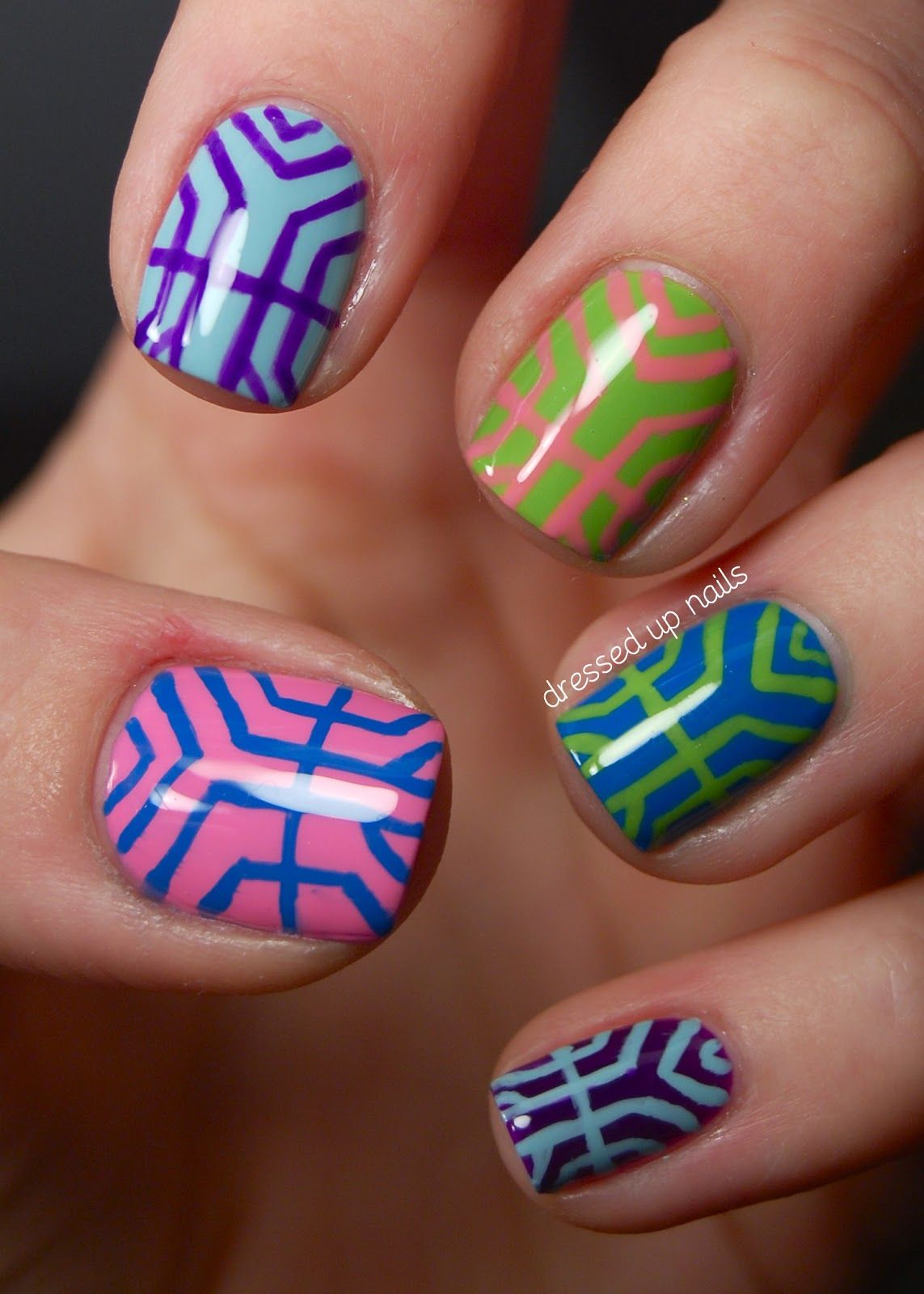 Colorful Art Deco Inspired Nail Art Manis I Love Pinterest