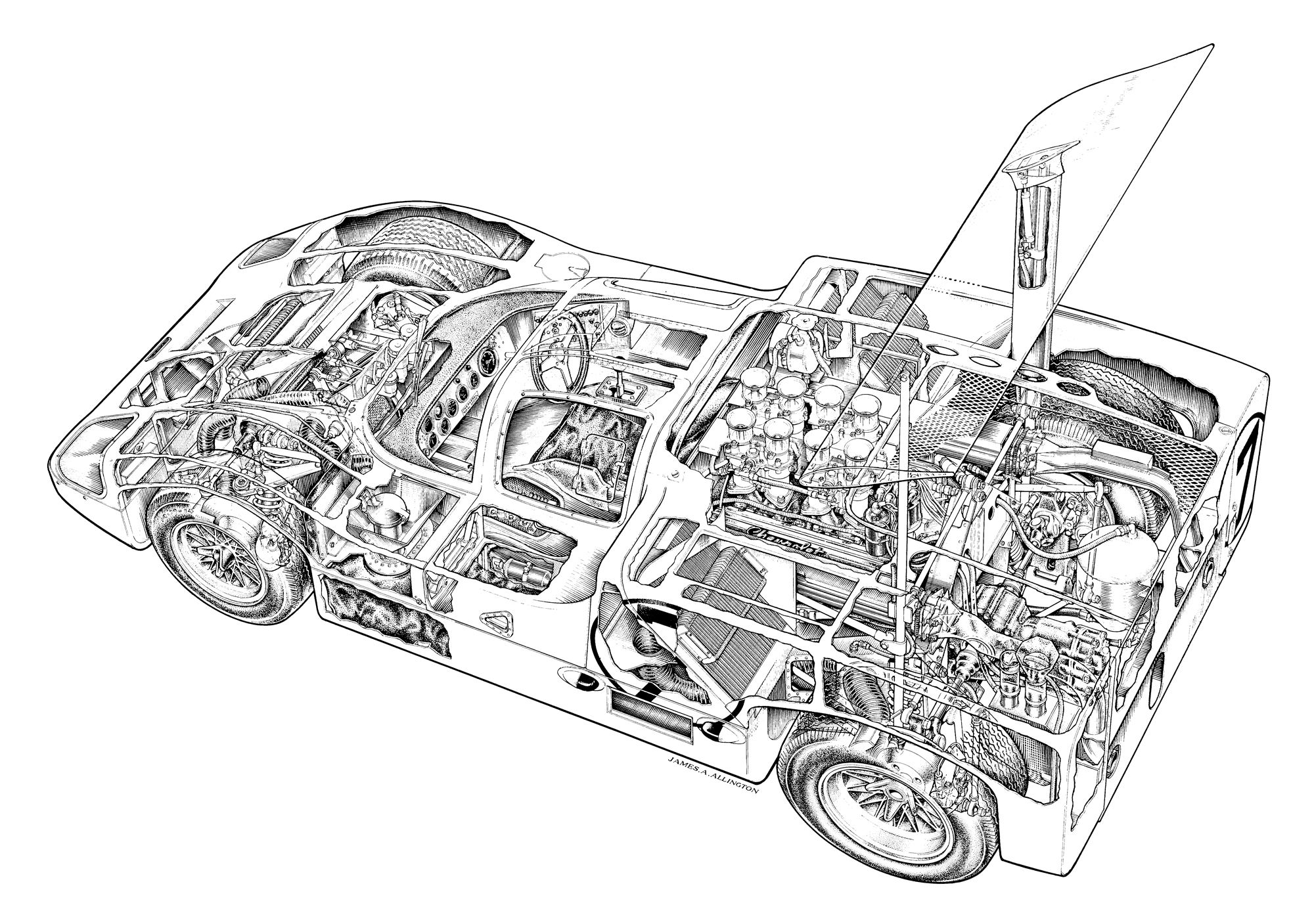 Chaparral Cutaway By James A Allington