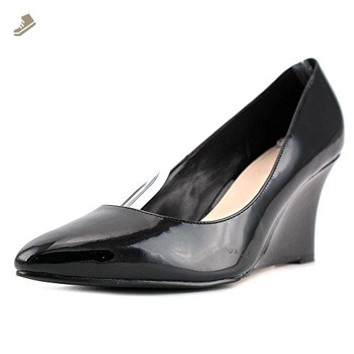 Womens Shoes Cole Haan Lena Open Toe Pump 75 II Black Patent