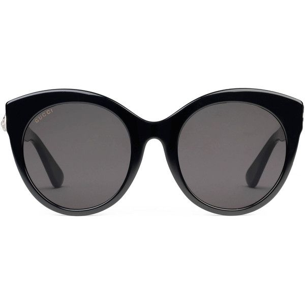 9062508527 Gucci Specialized Fit Round-Frame Acetate Sunglasses ( 315) ❤ liked on  Polyvore featuring accessories