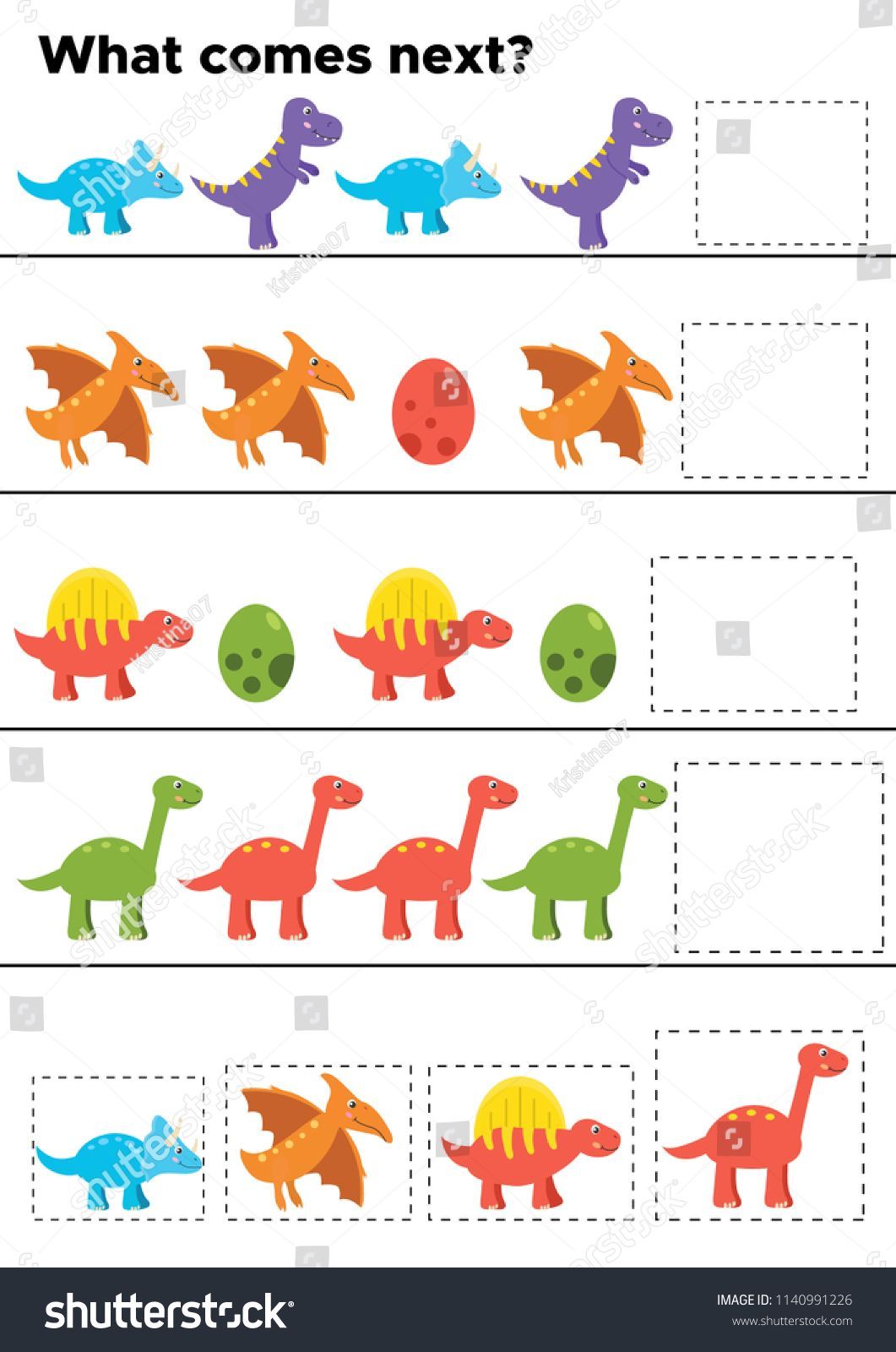 Educational Logic Game For Preschool Kids Activity