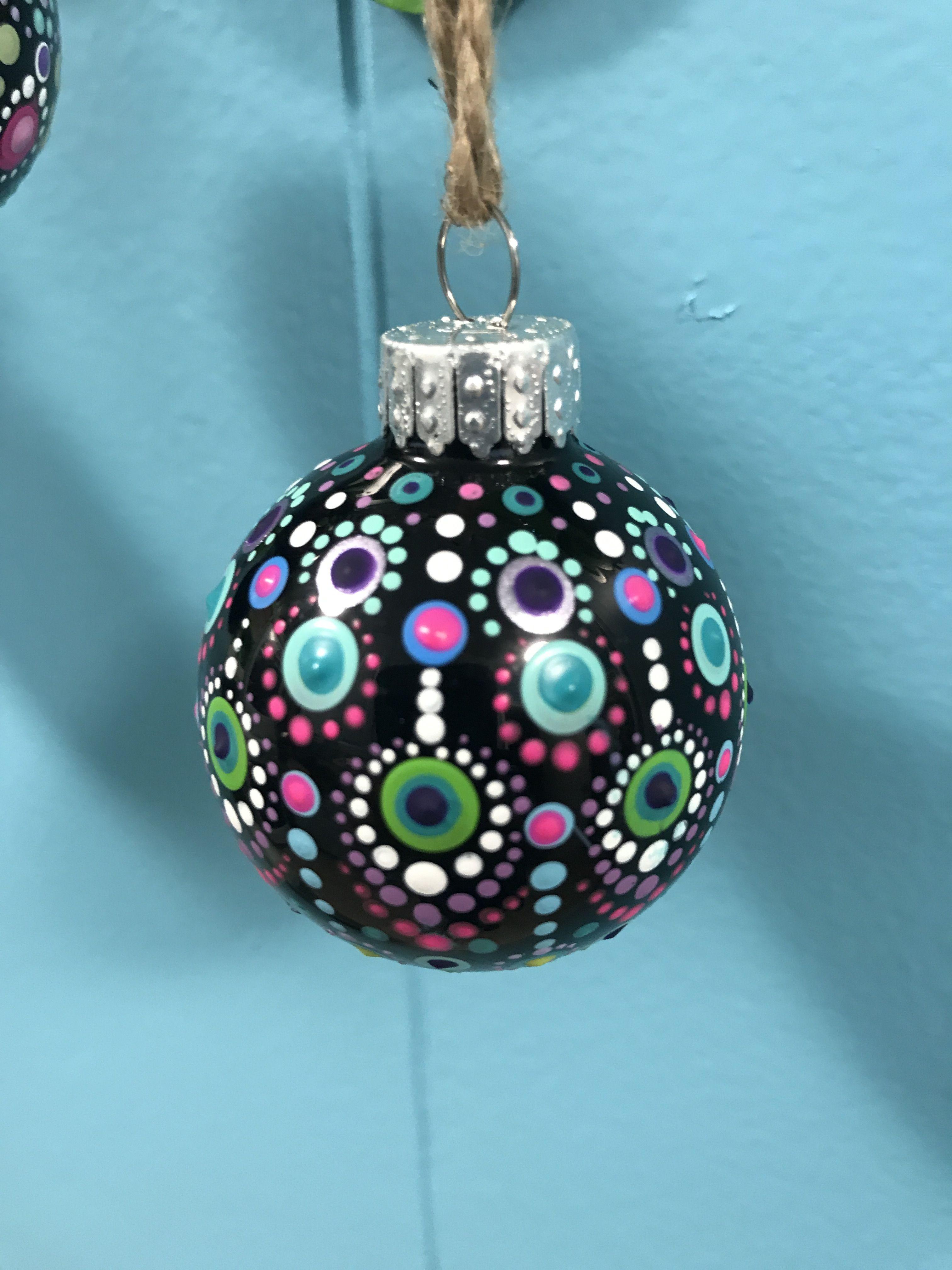 Hand Painted Mandala Ornament Christmas Tree Painting Christmas Mandala Christmas Ornaments