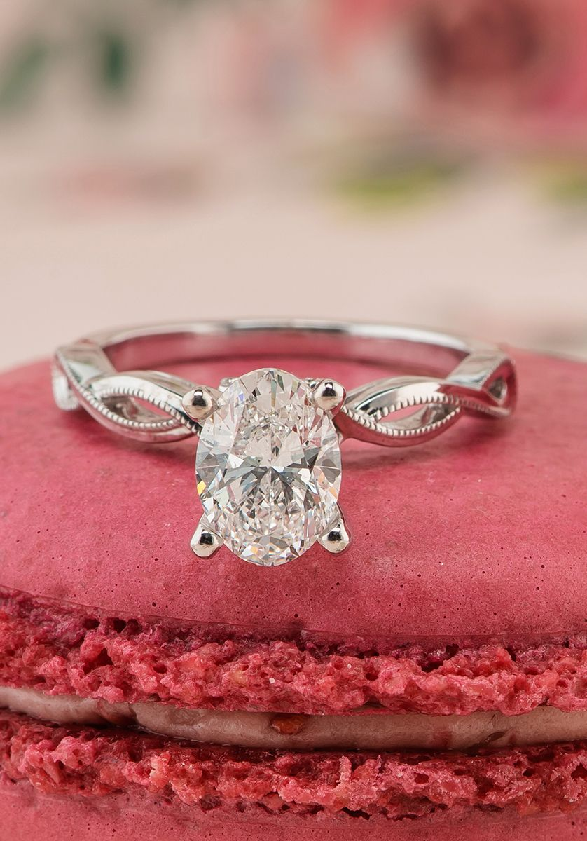Shane Co Oval diamond engagement ring from @shanecompany with pretty ...