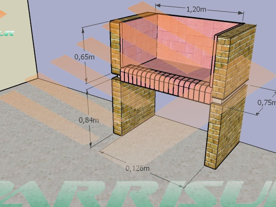 Como construir una parrilla parrilla asador y quinchos for Como construir piletas de material