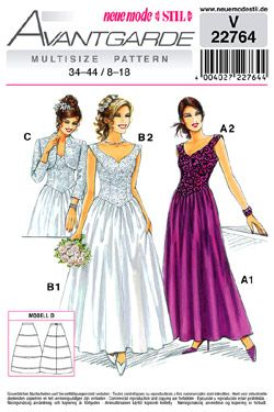 SewingPatterns.com  Wedding gown patterns, Gown pattern, Formal