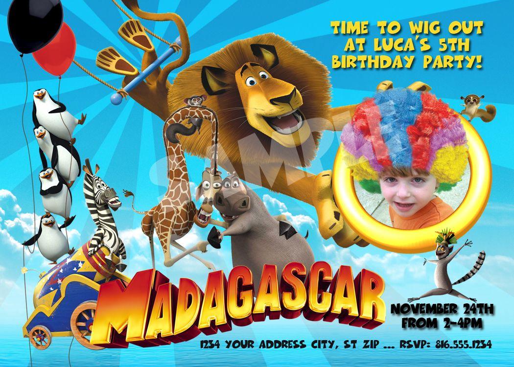 Madagascar 3 Birthday Party Invitation   Birthday Ideas   Pinterest ...