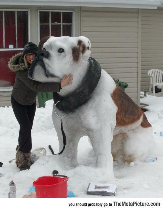 Impressive Snow Sculpture                                                       …