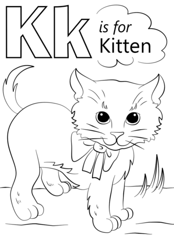 Letter K Is For Kitten Coloring Page From Category Select 26388 Printable