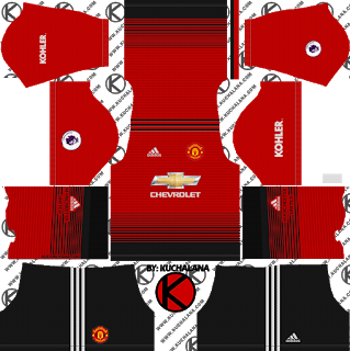 Manchester United 2019 2020 Kit Dream League Soccer Kits Manchester United Home Kit Soccer Kits Manchester United Third Kit