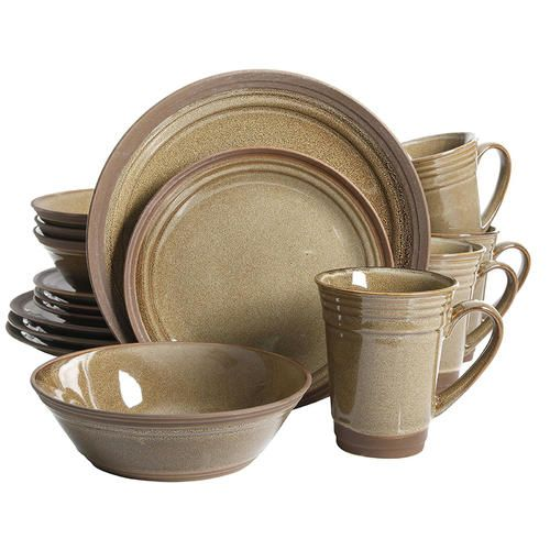 Gibson Elite Brynn 16 Piece Dinnerware Set Amber - Sears | Dinnerware | Pinterest | Dinnerware  sc 1 st  Pinterest & Gibson Elite Brynn 16 Piece Dinnerware Set Amber - Sears ...