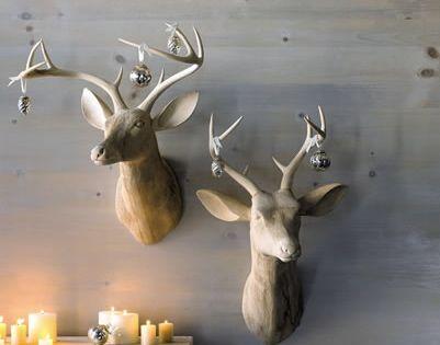 Deer Head Wall Decor animal busts wall decor | minimal christmas, minimal and xmas