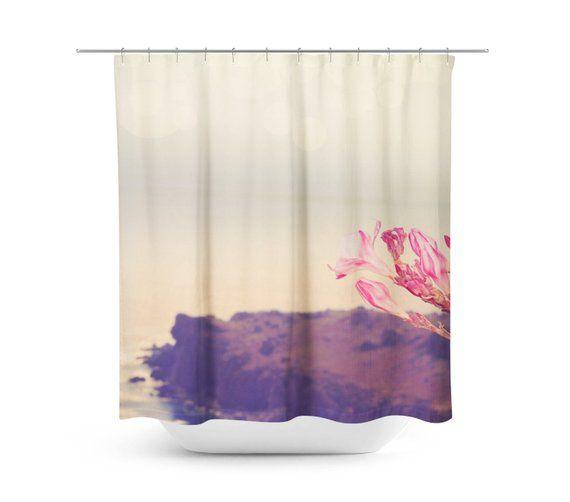 Rose Quartz Flower Flower Shower Curtain Landscape Photography