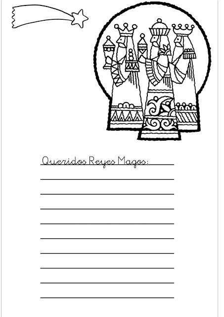 Carta a los Reyes Magos: Fotos de modelos para imprimir y colorear ...