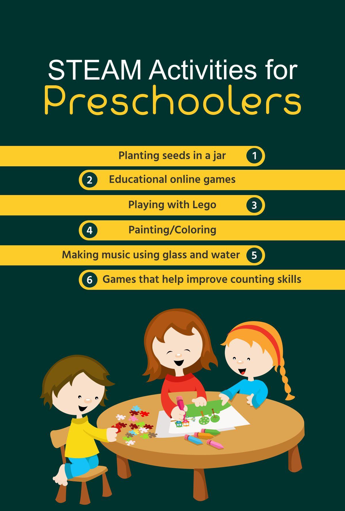 STEAM Activities for Preschoolers Preschoolers