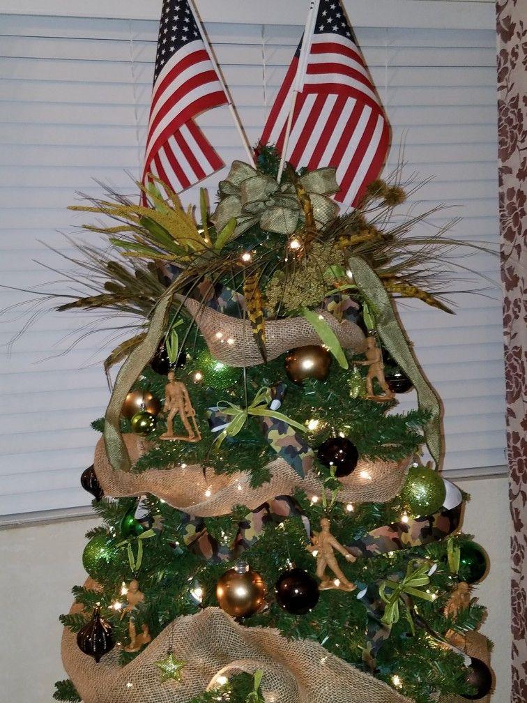 Army Camo Christmas Tree | Christmas soldiers, Patriotic ...