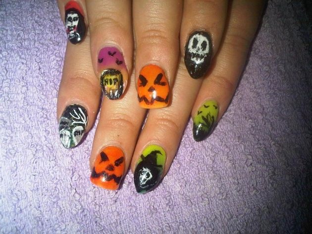 glow in the dark halloween - Nail Art Gallery by NAILS ...