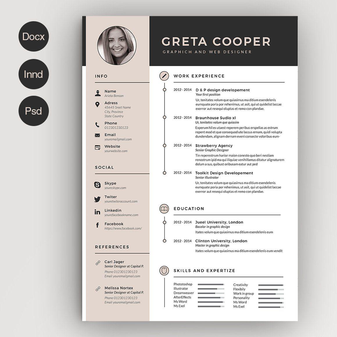 10 Creative Ways To Get Your Resume Noticed Modele Cv Modele De Cv Creatif Cv Moderne