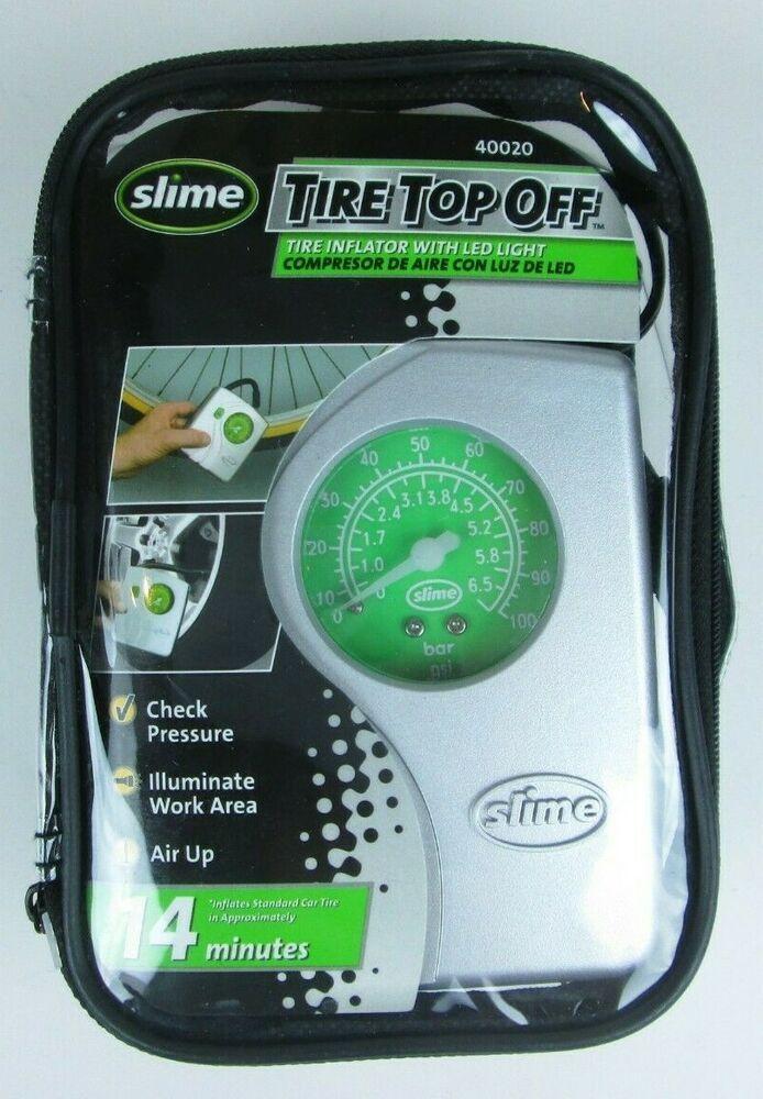 (Advertisement eBay) Slime Tire Top Off Inflator w/ Light
