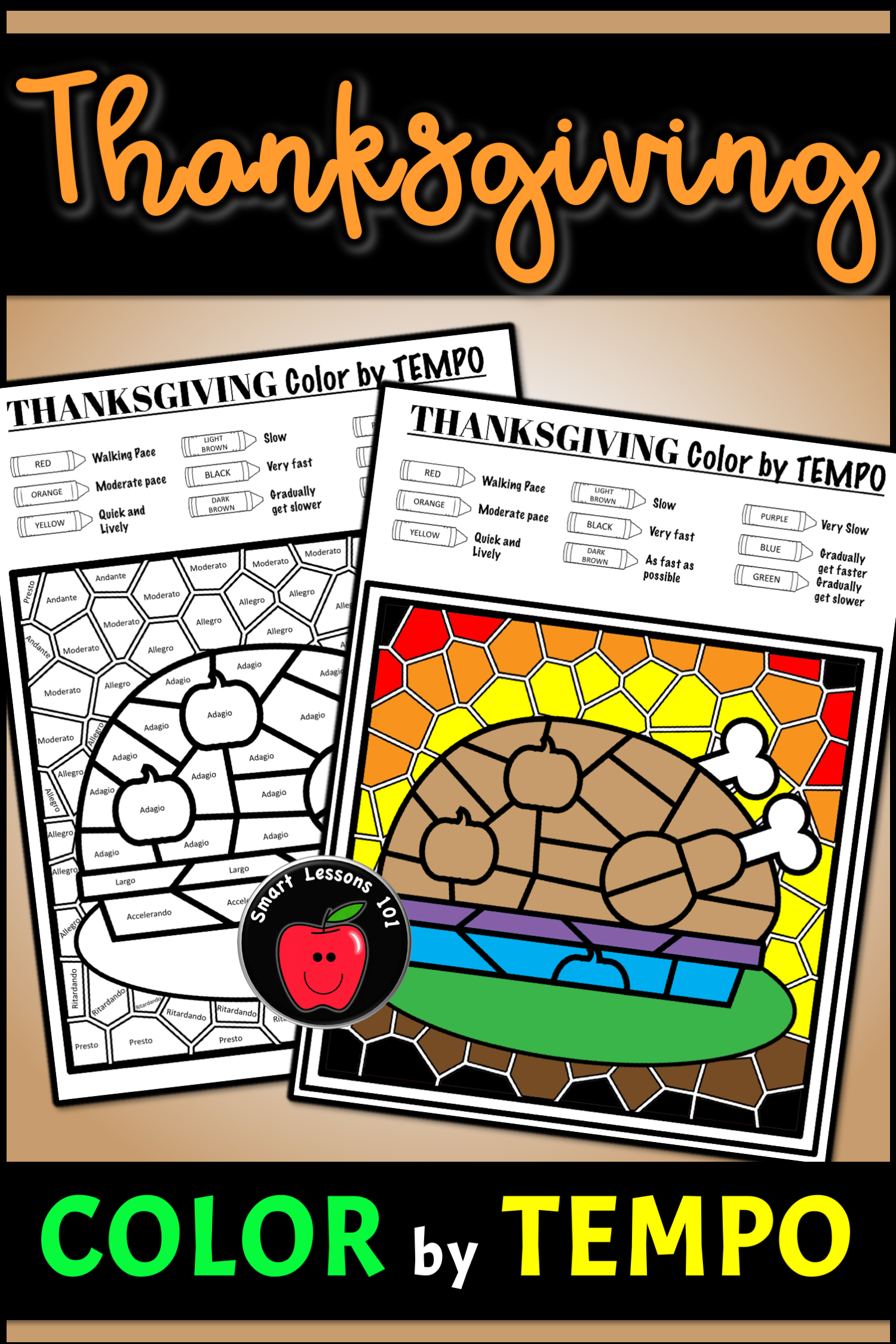 Thanksgiving Music Color By Code Color By Note Color By