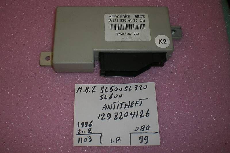 1996 S500 Fuse Box On