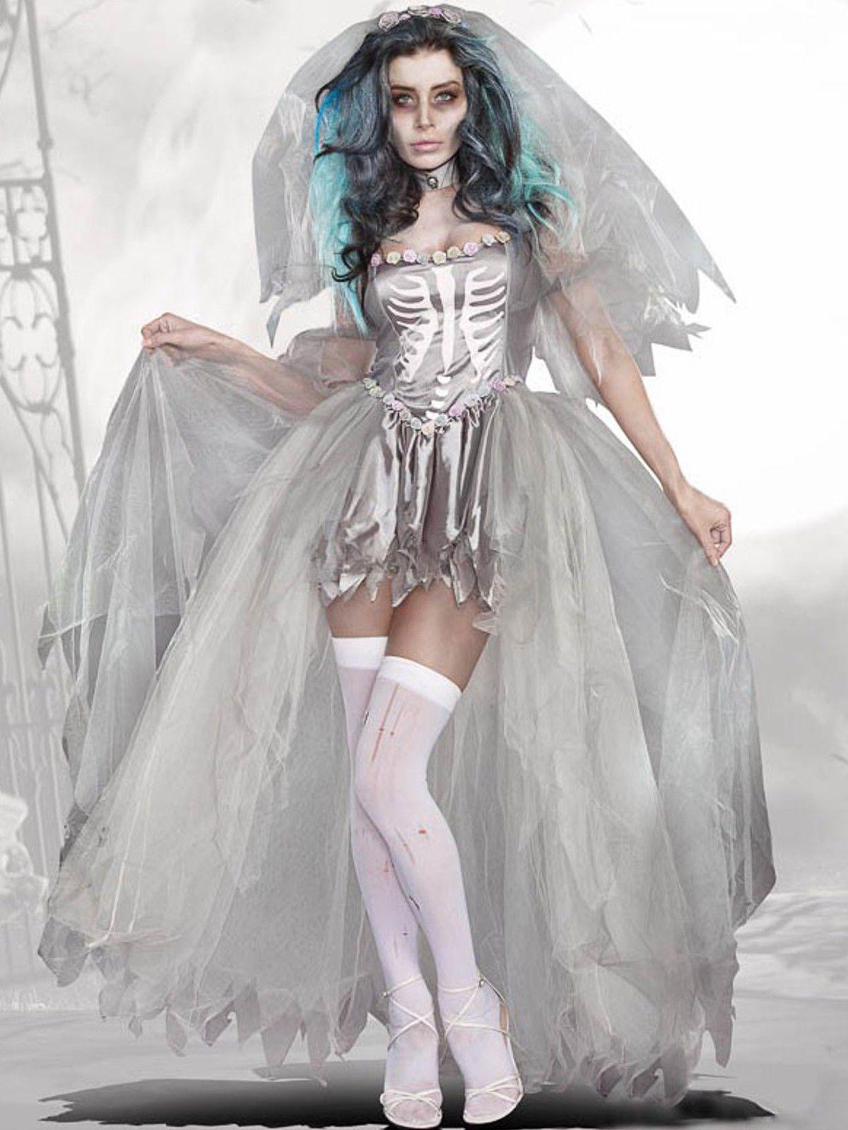 Disfraz de Novia Zombie Mujer DF255 Traje de novia