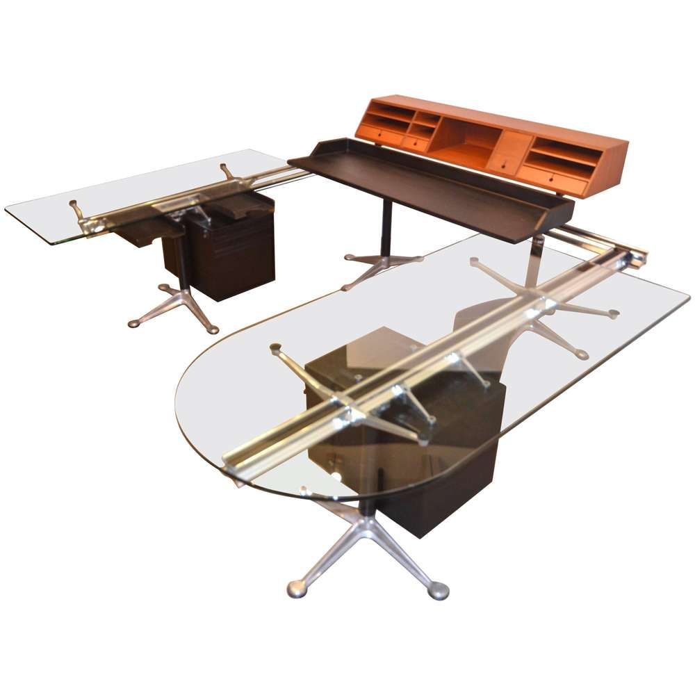 Herman Miller Desk By Bruce Burdick Fully Adjustable Components