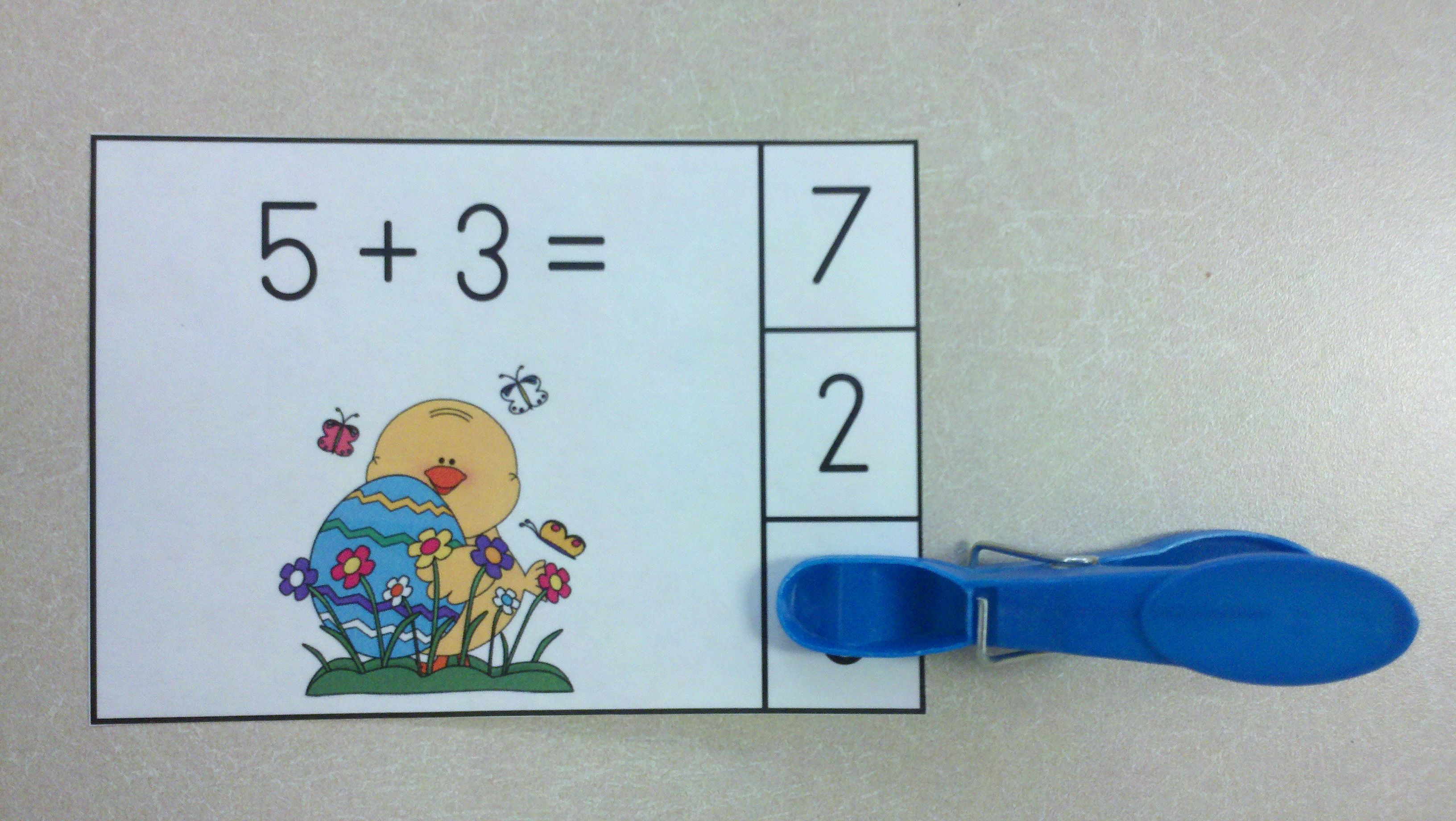 Easter Eggs Travaganza Addition Math Centers Sums To 10