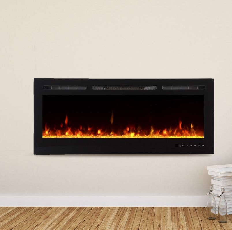 Bettie Recessed Wall Mounted Electric Fireplace Electric